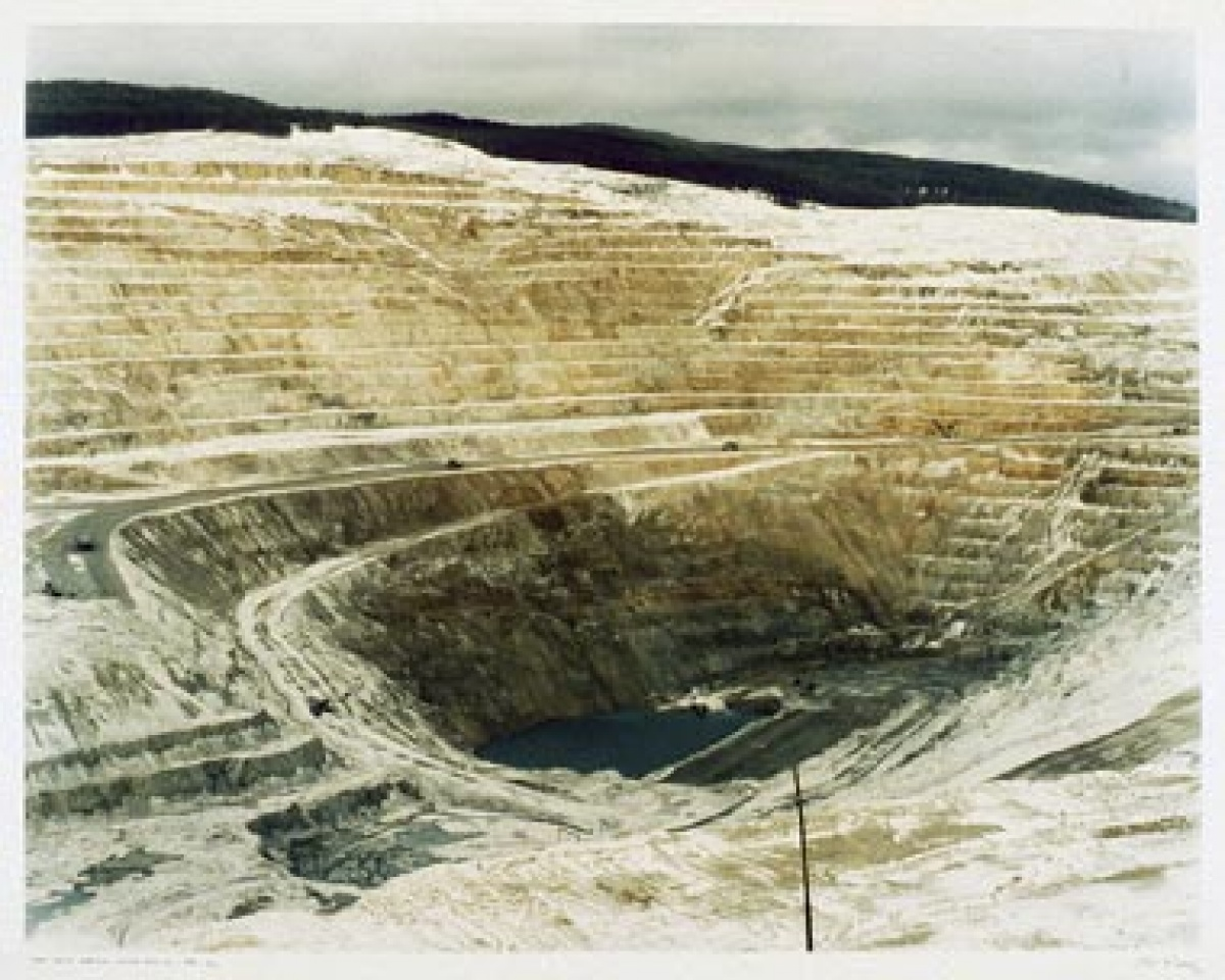 "Edward Burtynsky ""Lornex Open Pit Copper Mine #17, Highland Valley, BC"", 1983"
