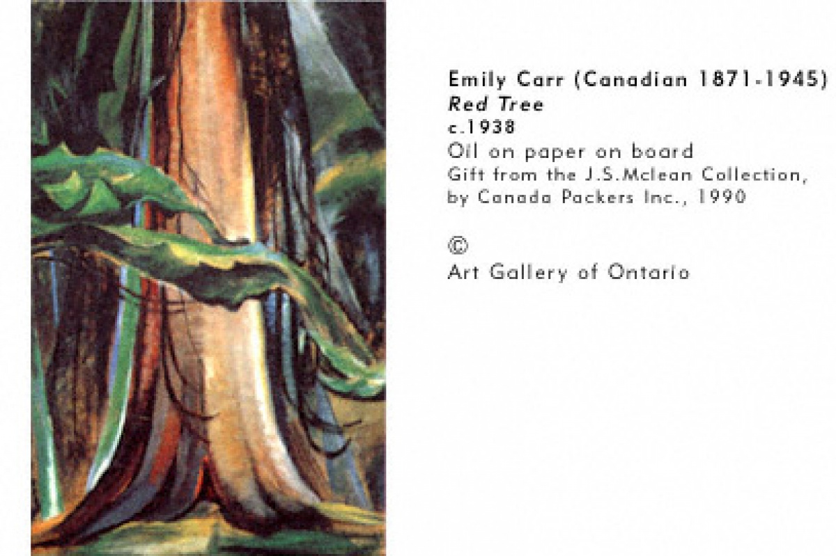 Emily Carr, Red Tree, 1938