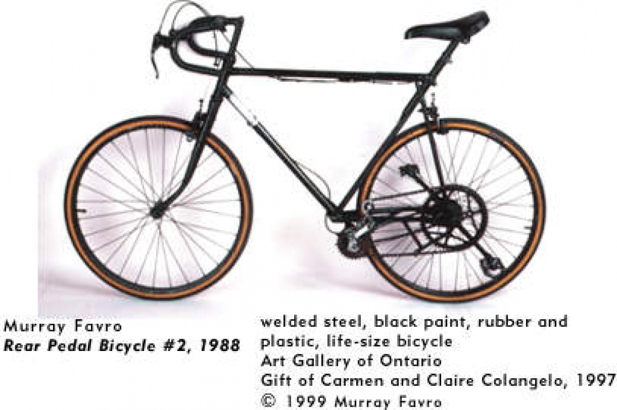 Murray Favro, Rear Pedal Bicycle #2, 1988