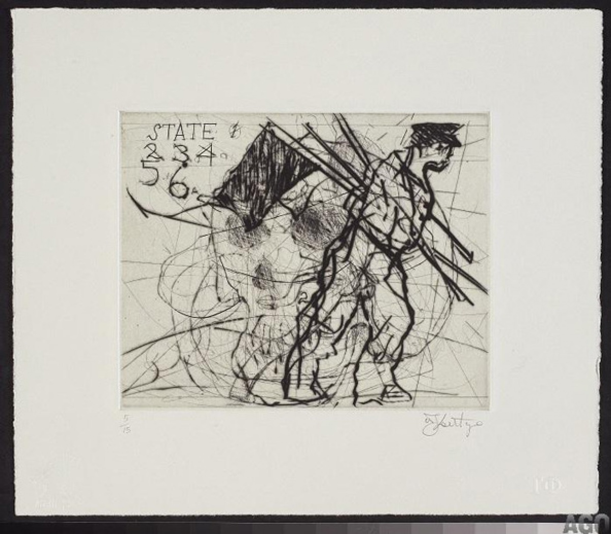 William Kentridge, Copper Notes, State 6 @ 594