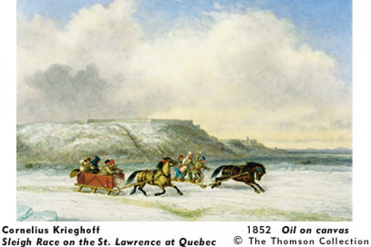 Cornelius Krighoff, Sleigh Race on the St. Lawrence at Quebec