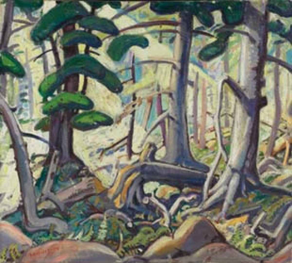 Arthur Lismer Sunlight in a Wood (detail), 1930