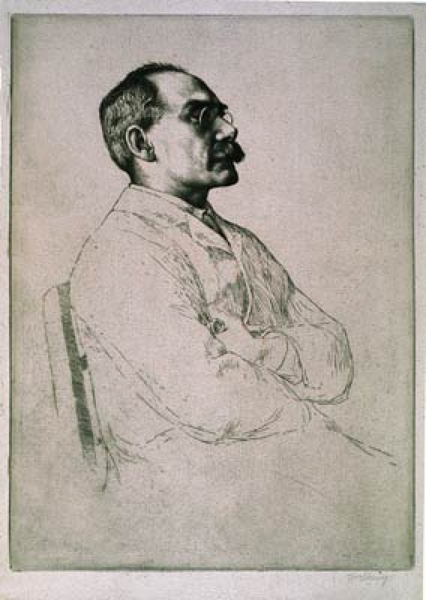 William Strang  British, 1859-1921 Portrait of Rudyard Kipling 1898