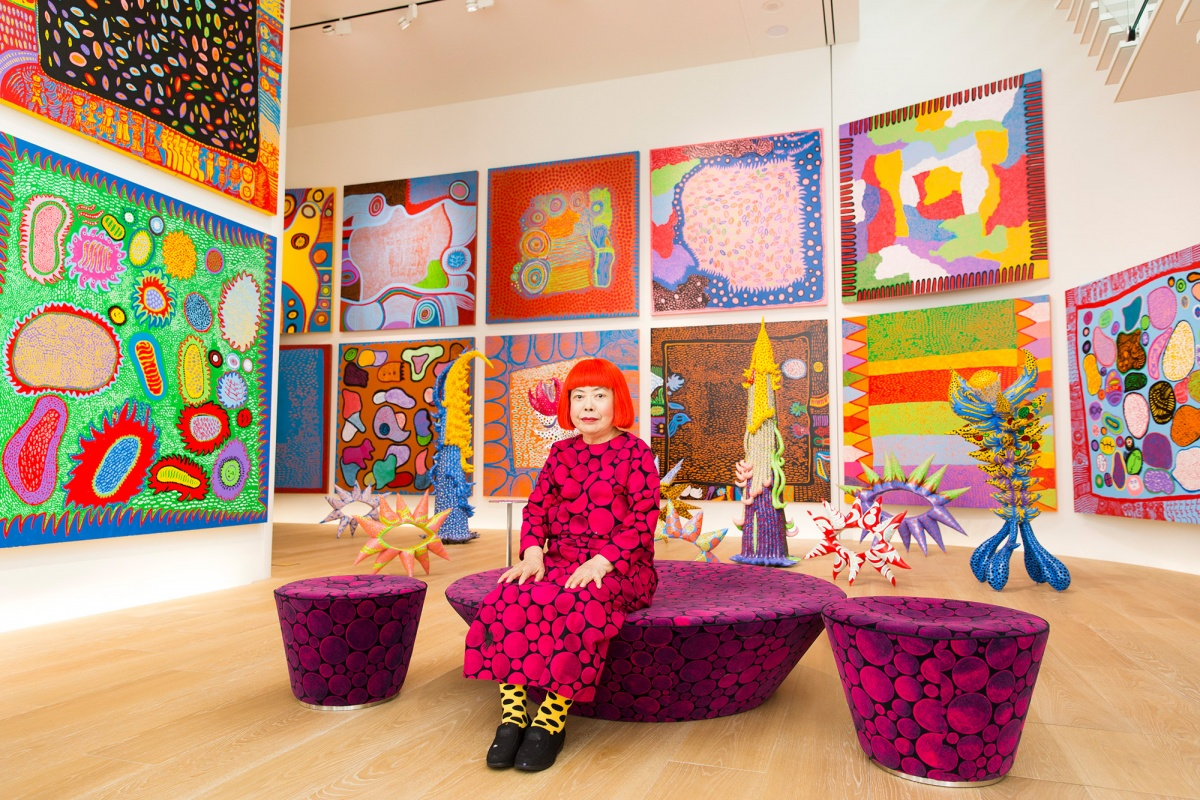 kusama with artworks