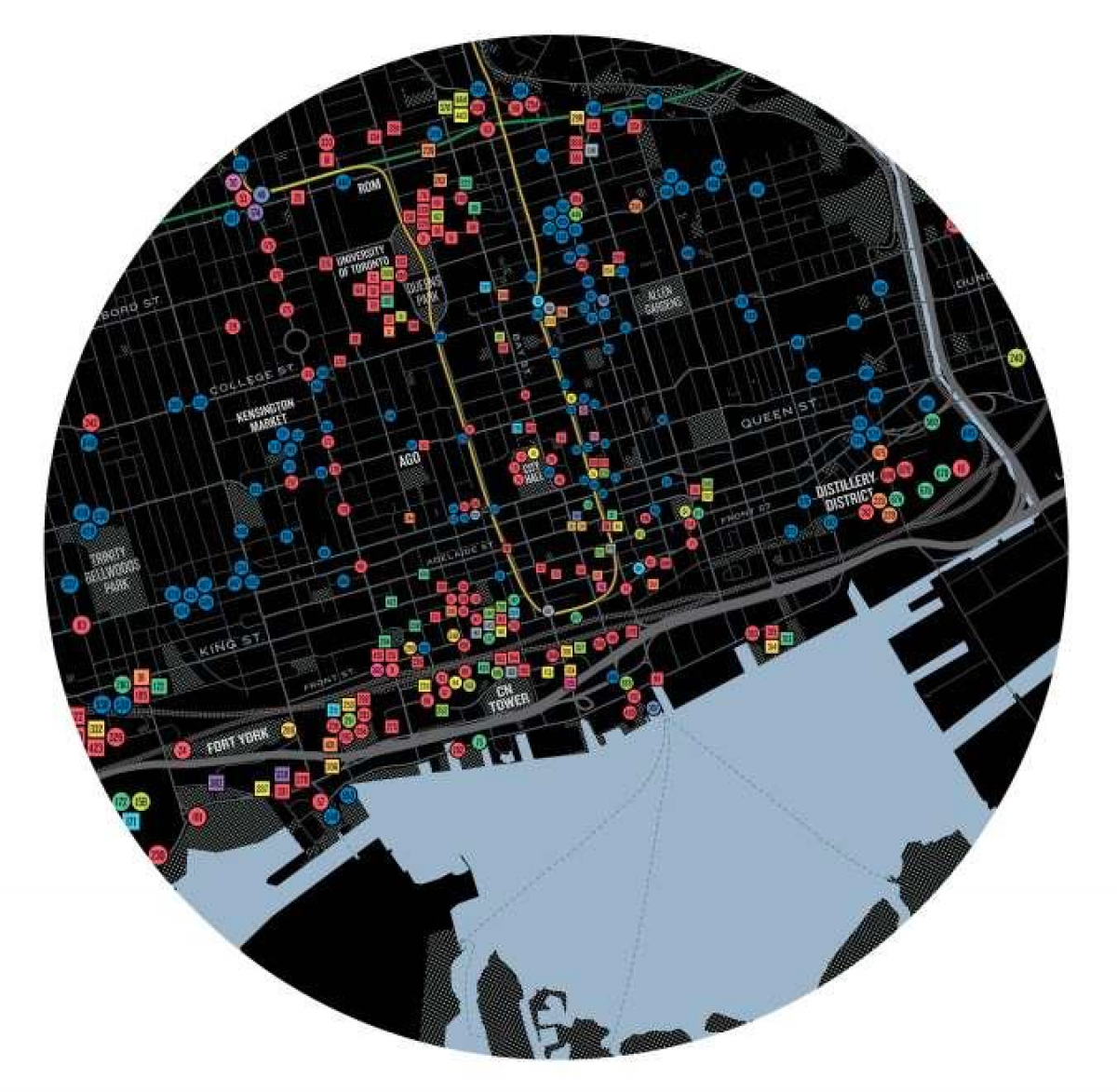 a map of toronto's downtown area