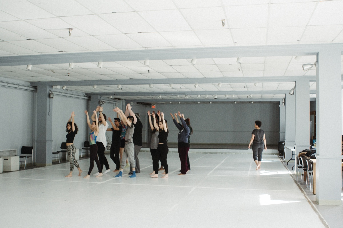 Seika Boye instructing movement for actors
