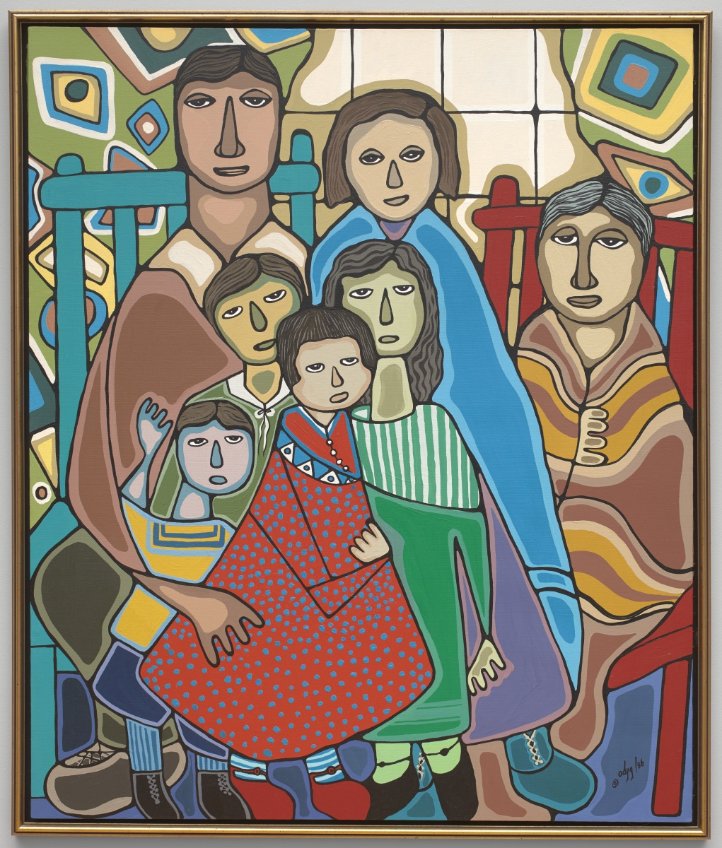 Portrait of Daphne Odjig's family
