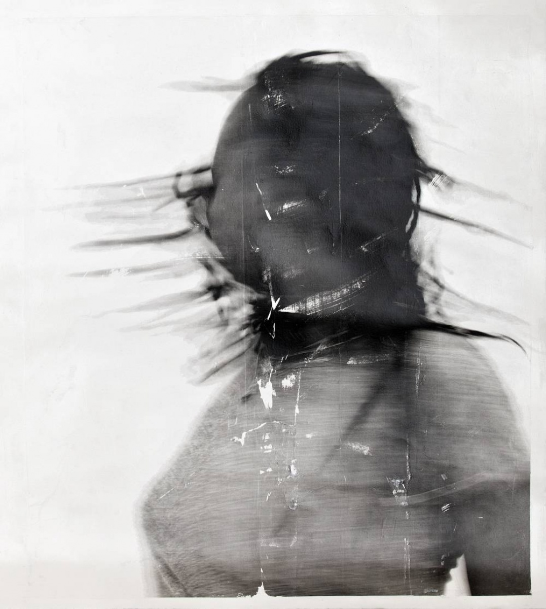 Black and white photographic work by Sandra Brewster