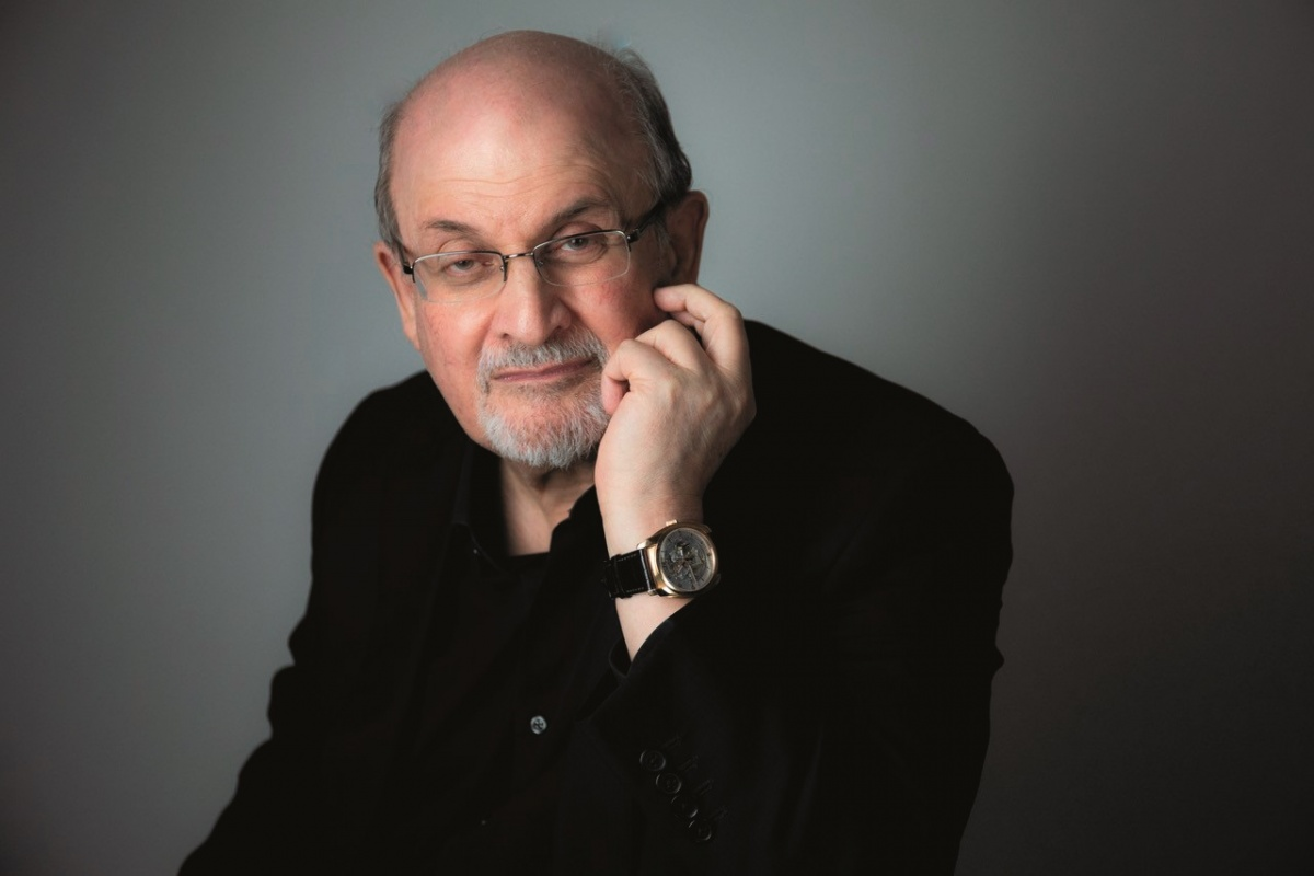 Headshot of author Salman Rushdie