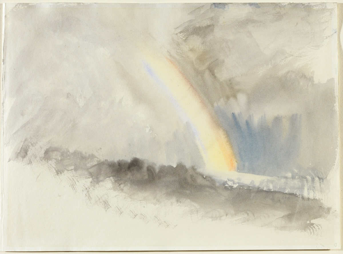 Joseph Mallord William Turner, Stormy Landscape with a Rainbow
