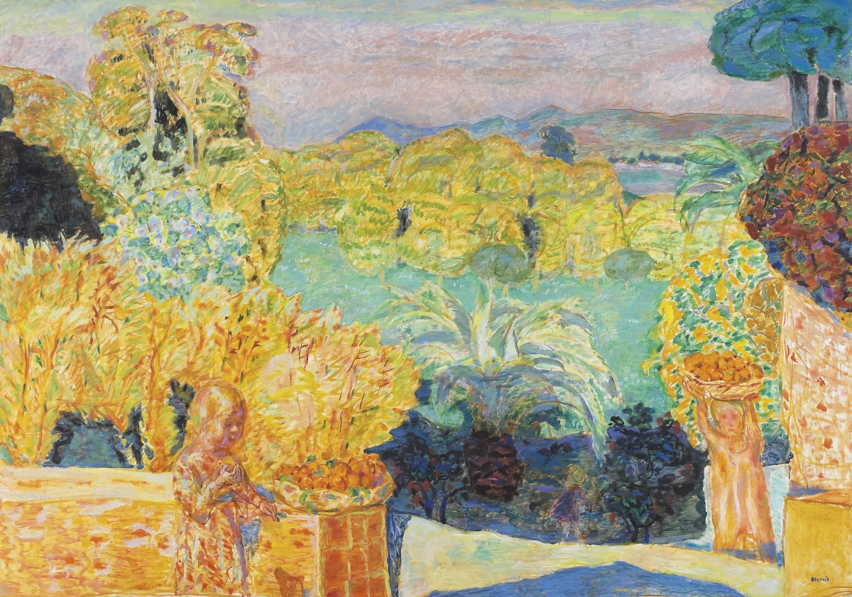 Pierre Bonnard,Paysage du Midi et deux enfants