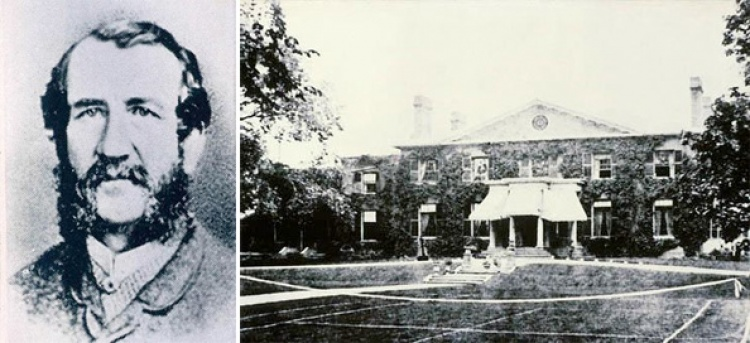 a sketch of wh boulton and a photo of the grange house