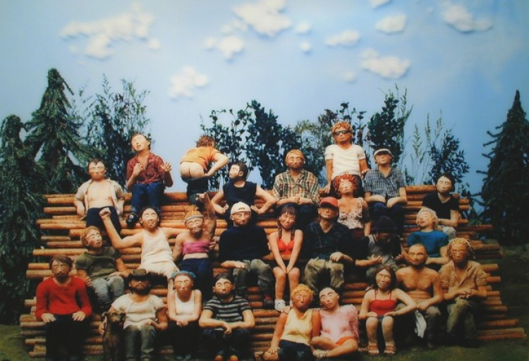 Group Potrait( Tree Planting), artwork by Sarah Anne Johnson