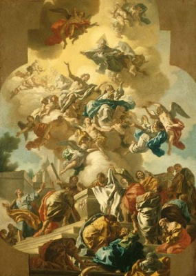 The Assumption of the Virgin, painting by Francesco de Mura