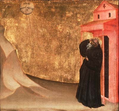Vision of St. Benedict, painting by  Giovanni del Biondo