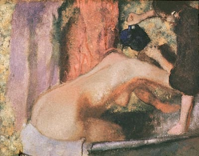 Woman at Her Bath painting by Edgar Degas
