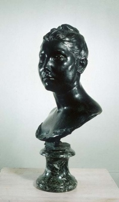 Bust of a Young Woman, sculpture by Jules Dalou