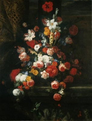 Still Life: Flowers 17th century, painting by Jean-Baptiste Monnoyer