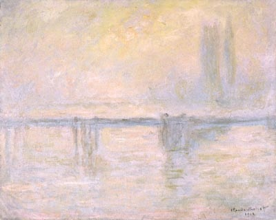 Charing Cross Bridge, painting by Claude Monet