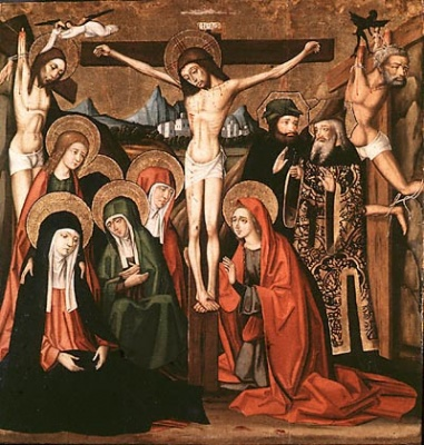 he Crucifixion, painting by Jativa Master