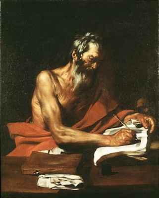 Saint Jerome, painting by Juespe de Ribera