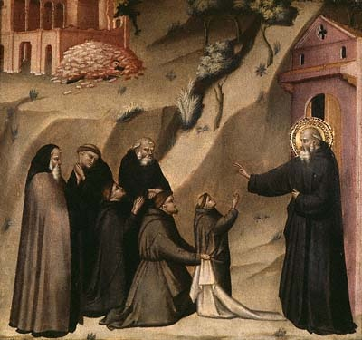 St. Benedict Restores Life to a Young Monk, painting by Giovanni del Biondo