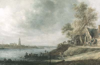 View of Rhenen, painting by Jan van Goyen