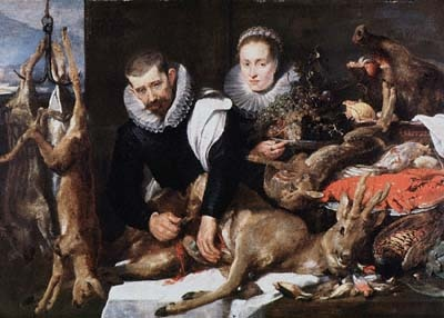 Still Life with Figures, painting by Cornelis de Vos; Frans Snyders
