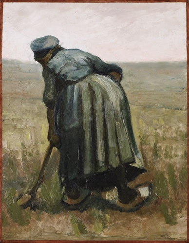 Vincent van Gogh, A woman with a spade, seen from behind, 1885