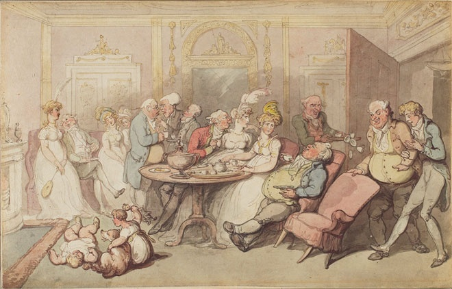 Thomas Rowlandson, After Dinner, c.1805