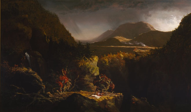 "Thomas Cole, Landscape with Figures: A Scene from ""The Last of the Mohicans"", 1826"