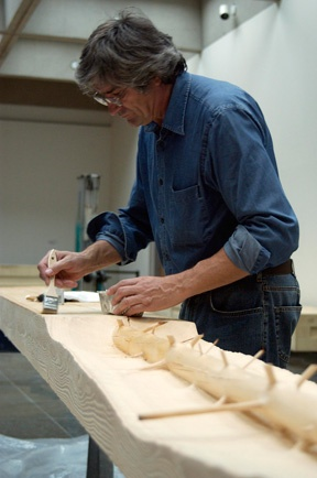 Photo 1 for Giuseppe Penone at work on <em>The Hidden Life Within</em>