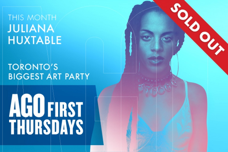 SOLD OUT! This month: Juliana Huxtable at Toronto's Biggest Art Party: AGO First Thursdays