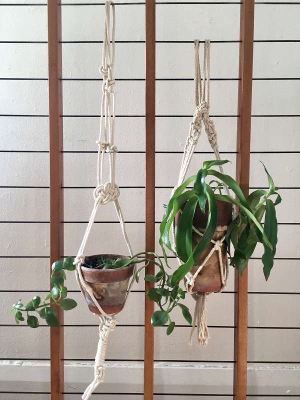 Macramé plant holders