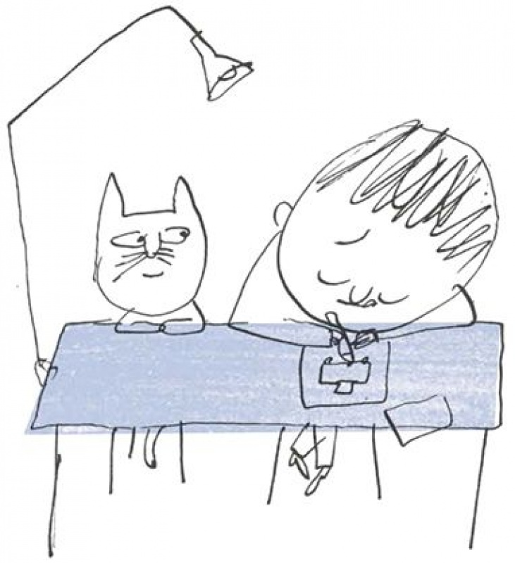 still of cat and boy from the film The Big Adventure of Little Line