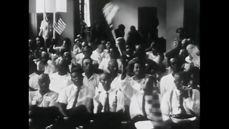 Film still of crowd from Arthur Jafa's Love is The Message, The Message is Death
