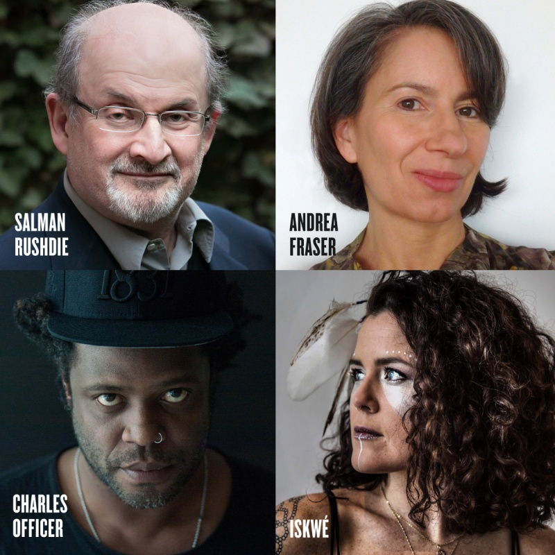 AGO Creative Minds with Salman Rushdie, Andrea Fraser, Charles Officer, Iskwé