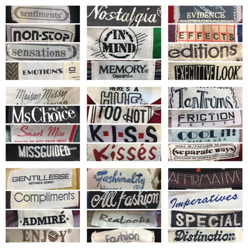 vintage colthing labels