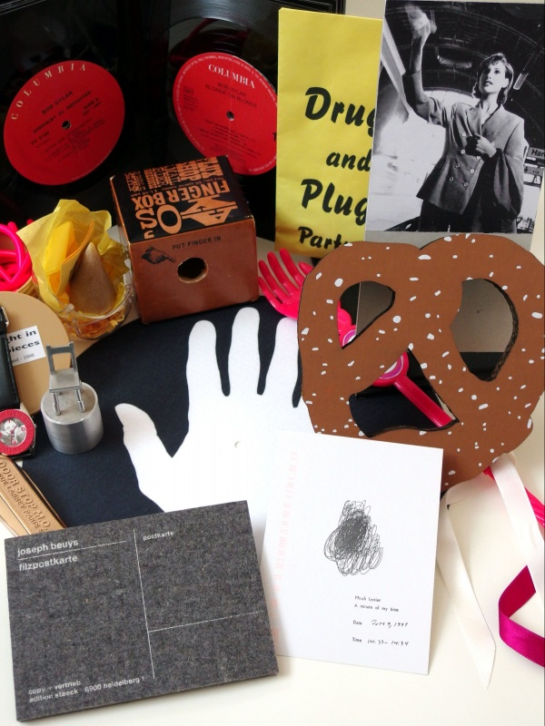 A collection of artists' books and multiples