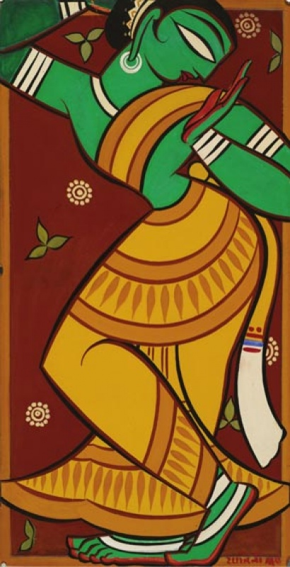 Painting of Dancing Gopi, Jamini Roy