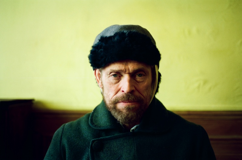 actor Willem Defoe as painter Vincent Van Gogh in the film At Eternity's Gate directed by Julian Schnabel