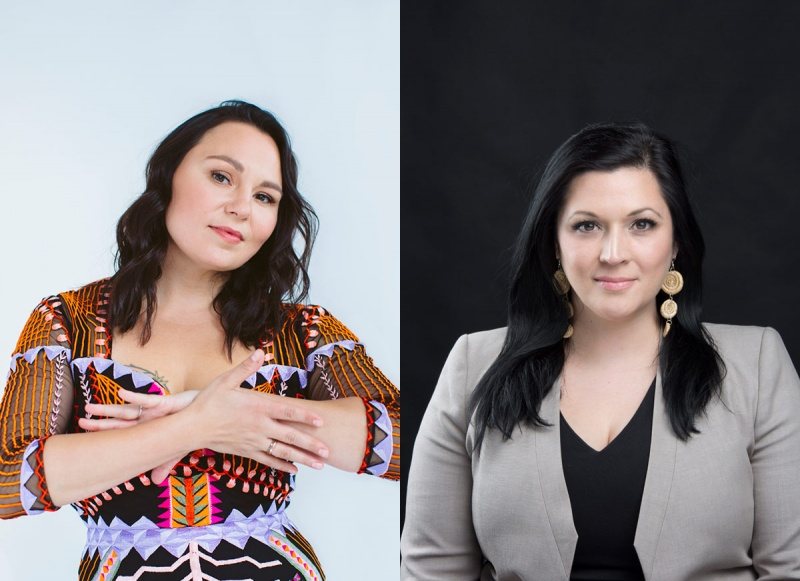 Tanya Tagaq and Heather Igloliorte