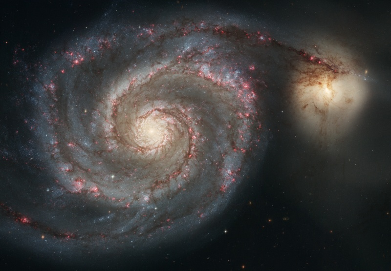 Image of The Whirlpool Galaxy (M51) and companion galaxy