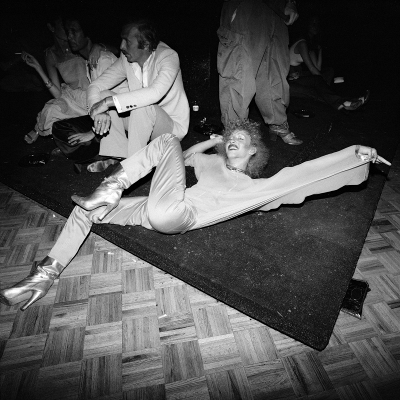 Meryl Meisler, Stretched on Floor (Silver Boots), Gelatin silver print