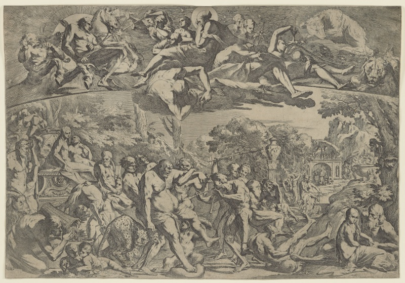Pietro Testa   Allegory of Autumn, ca. 1642-44 Etching on laid paper Sheet: 49.4 × 71.4 cm (19 7/16 × 28 1/8 in.) Purchase, with funds from the Trier-Fodor Fund, 2020 2019/2351