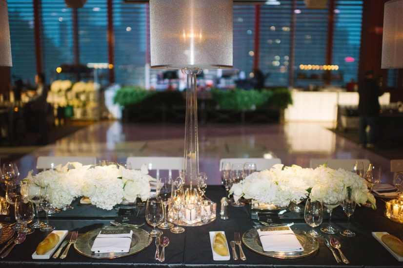 table setting in Baille Court