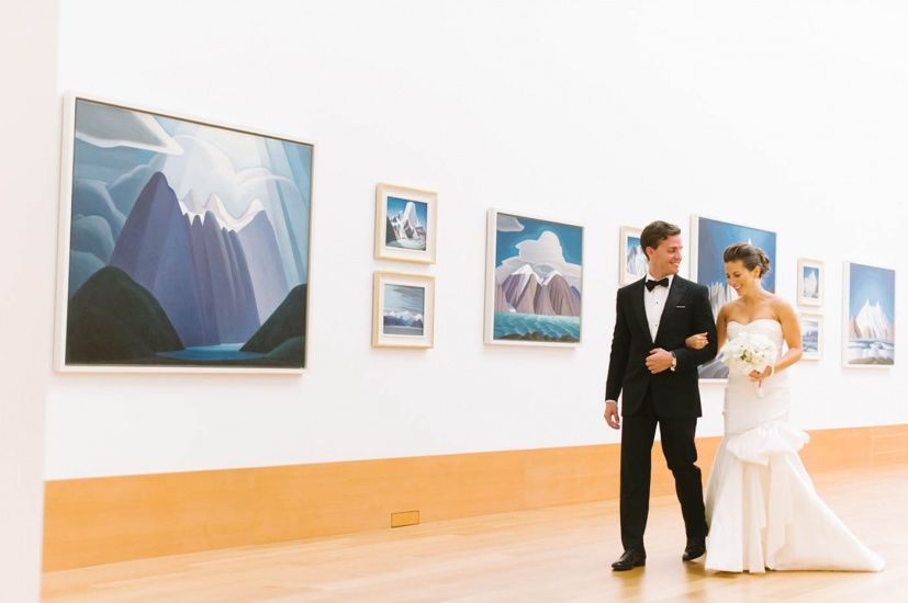 bride and groom in the Canadian Collection
