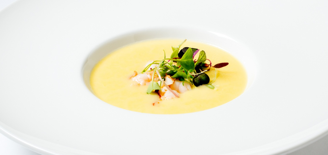 Lobster corn velouté