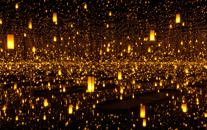 "installation of kusama's work ""aftermath of the obliteration of the universe"""