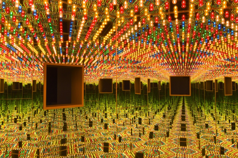 "installation of kusama's ""love forever"""